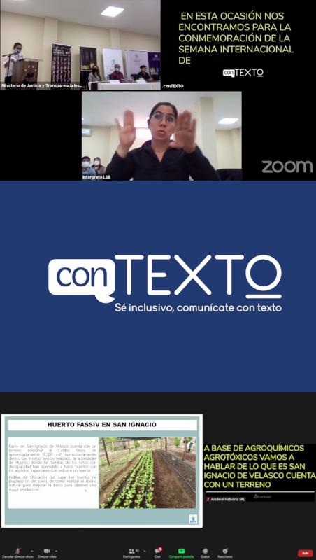 Capturas de demostración de conTEXTO