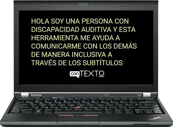 Laptop ejecutando conTEXTO